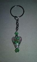 Artisan Handmade Green Heart Blown Glass Bead S... - $6.99