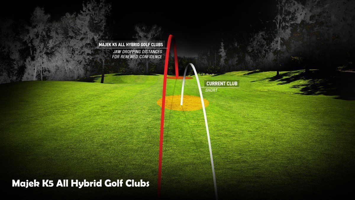 """Senior Men's Majek Golf All Hybrid Full Set (5-SW) Senior """"A"""" Flex Utility Clubs"""