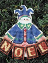 Noel Snow Folks Ornament kit christmas perforated paper cross stitch kit - $5.40