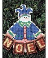 Noel Snow Folks Ornament kit christmas perforated paper cross stitch kit - $5.40