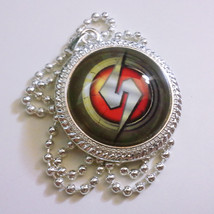 Metroid Prime Samus Emblem 1 inch Glass Stone Necklace Pendant Video Game  - $15.00