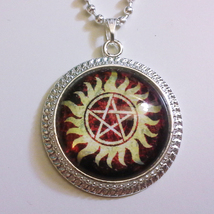 Supernatural Possession Protection 1 inch Glass Stone Necklace Dean Winc... - $15.00
