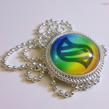 Pokemon Mega Evolution Stone Video Game 1 inch Glass Stone Necklace Pend... - $15.00