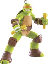 1 X Teenage Mutant Ninja Turtles Michelangelo 2014 Carlton Heirloom Orna... - $24.74