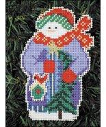 Sparkle Snow Folks Ornament kit christmas perforated paper cross stitch kit - $5.40