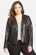 Bernardo | Asymmetrical Zip Leather Moto Jacket... - $158.39