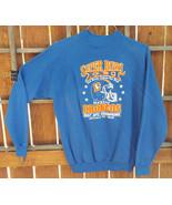 VTG Denver Broncos Sweatshirt-Super Bowl XXII- XL 46-48-Blue-1987 AFC Ch... - $37.39