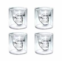 DSYJ Cup Skull Glasses Crystal Shot Cup 4 pcs Transparent - $14.78