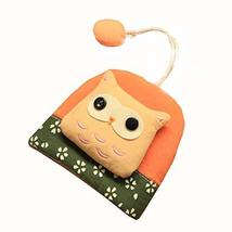 Orange Lovely Owl Small Coin Bag Zipper Key Case - $14.60