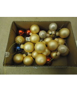Designer Hanging Balls One Box Decorative 1in Diameter Gold/Red/Blue Glass - $11.80