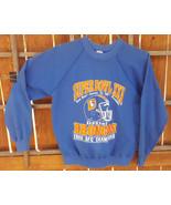 VTG Denver Broncos Sweatshirt-Super Bowl XXI- M 38-40-Blue-1986 AFC Cham... - $37.39
