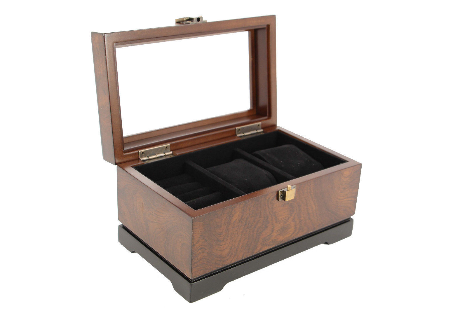 Bombay executive cufflink case watch storage organizer for Men s jewelry box for watches and cufflinks