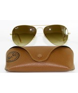 New Genuine Ray Ban 3025 112/85 Gold Tone Brown Lens Aviator Sunglasses ... - $79.25