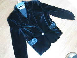 ANOTHER THYME LADIES SIZE 14 BLACK VELOUR DRESS... - $14.01