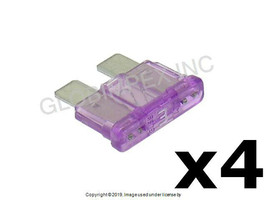 3 Amp Violet Fuse - GM Type (ATO/ATC) LITTELFUSE Set of 4 + 1 YEAR WARRANTY - $12.85