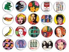 ANDY WARHOL pop art pin pinback button BADGE Magnet KEYCHAIN SET 1 - $17.00+