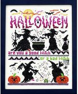 Good Witch Bad Witch halloween cross stitch cha... - $13.50
