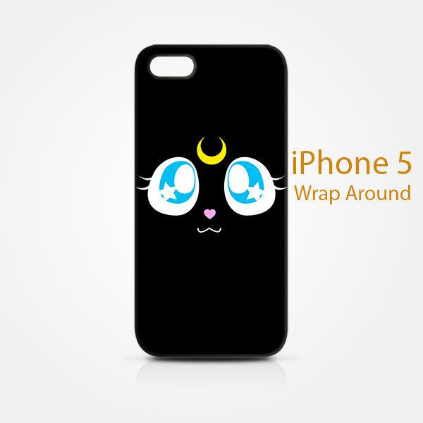 Luna Sailor Moon iPhone 5 5S 5SE Case Cover Wrap Around ...