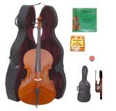Lucky Gifts 1/4 Size Student Cello,Hard Case,Soft Bag,Bow,2Sets of Strings,Tuner