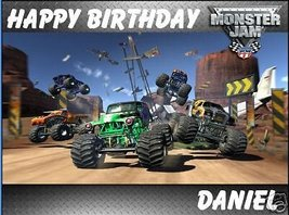 Monster Jam edible cake image cake topper decoration - $9.99