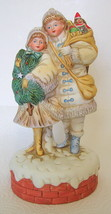 Angel Carolers Music Box Figurine Hark The Herald Angels Sing - $44.54