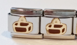 Gold Longaberger Basket 9mm Italian Charm Stainless Steel from PS Charms... - $6.00