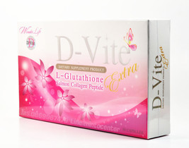 2 X D-Vite Extra L-Glutathione Salmon Collagen Peptide, White than Original - $75.67