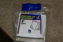 """Traditional Dyer Vent Cap Replacement 4"""" White - $4.00"""