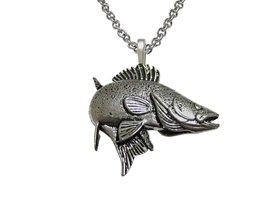 Zander Walleye Fish Pendant Necklace - $29.69