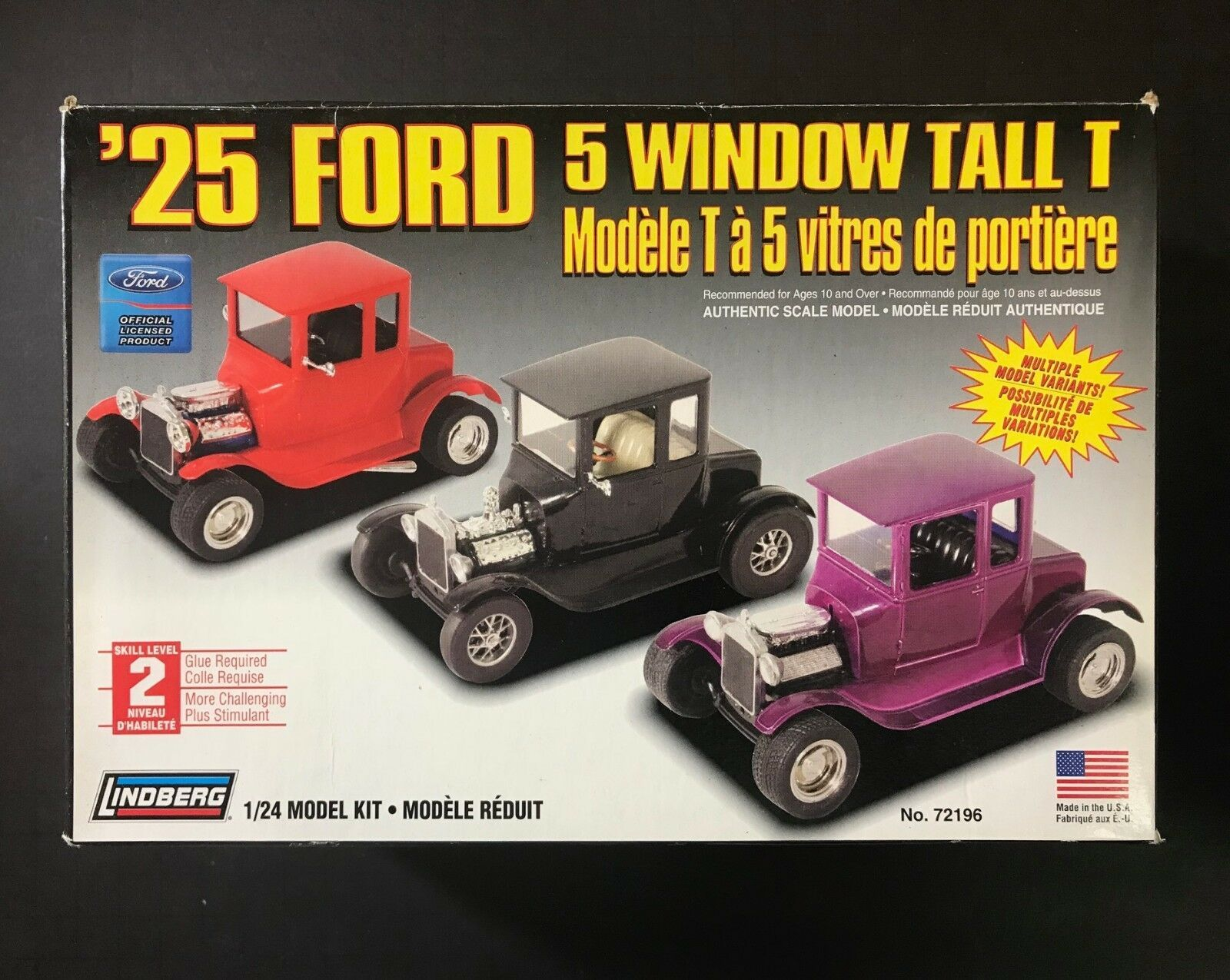 Lindberg '25 Ford 5 Window Tall T 1/24 Model Kit 72196 NEW IN BOX