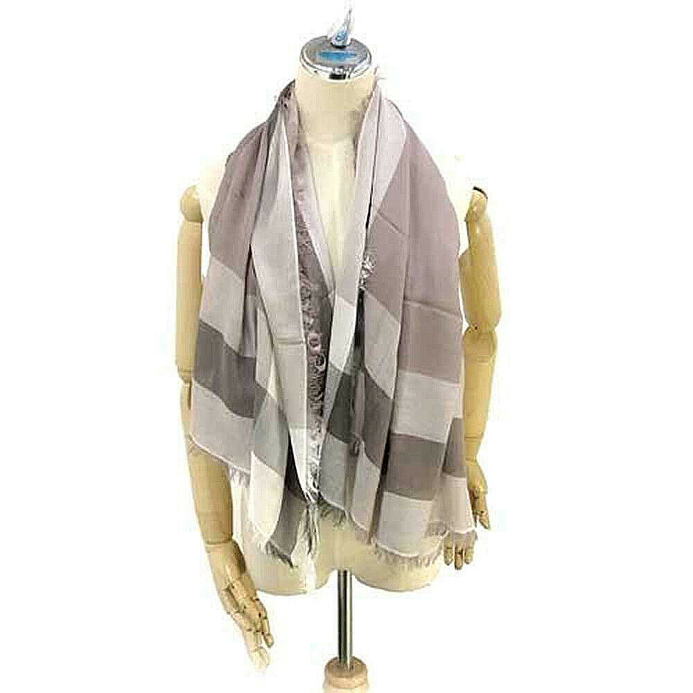 Primary image for Coach Women's Outlet Windowpane Challis Scarf, F54253, One Size, Stone, 8978-3