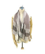 Coach Women's Outlet Windowpane Challis Scarf, F54253, One Size, Stone, ... - $176.22