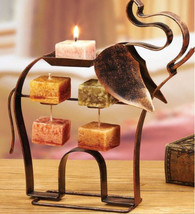 Metal Elephant  Candle on Rope Holder With Harmony Scented Candle on Rope - $29.00
