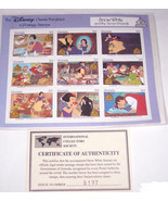 Disney Snow White Seven Dwarfs Postage Stamps Classic Fariytales Grenada... - $34.95