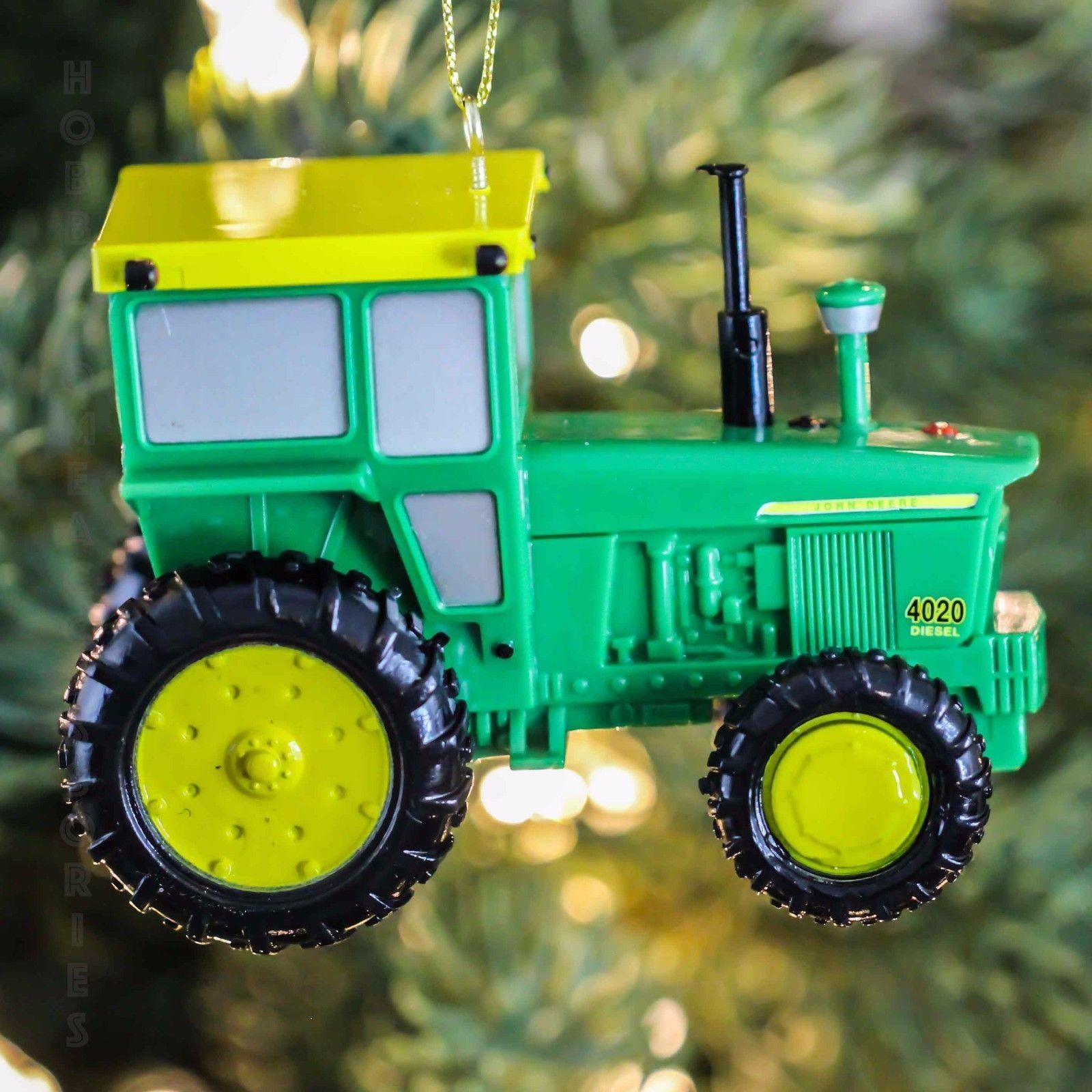 John Deere Tractor Wood Ornaments : John deere model tractor christmas tree ornament