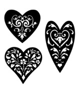 vintage heart stencil collection 1 craft,fabric,furniture, 6/6 inches - $5.18 - $6.09