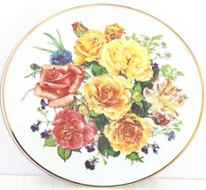 Majesty Roses Radiant Sunrise Collector Plate Floral Franklin Mint Vintage - $59.95
