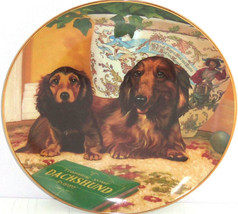 Dachshunds Collector Plate Wiener Dog Come Here Christopher Nick Danbury... - $59.95