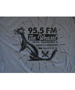 NEW w/o tags Gray 92.5 FM RADIO The Weasel Charlotte NC Made in USA t sh... - $15.93