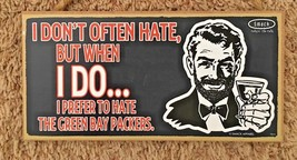"Wood 5X 10"" Humor Sign: Doont HATE but when I d... - $13.64"