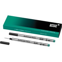 Montblanc Rollerball Medium Refill - Pack of 2 Fortune Green 105161 - $18.99
