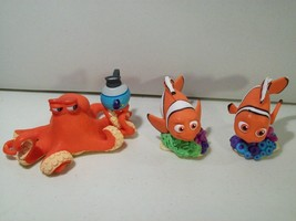 Lot Of Disney Store Finding Dory Pvc Figures Nemo Marlin & Hank Octopus Topper - $14.65