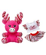 Build a Bear Buddies Candy Cane Baby Pink Moose... - $69.95