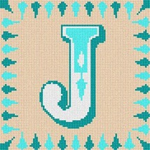 Letter J Needlepoint Kit - $49.50