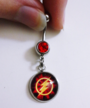 The Flash Barry Allen TV Show Emblem Belly Button Ring Body Jewelry  - $17.00