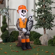 Halloween Outdoor Decoration Scary Party Gemmy Skeleton Inflatable Airblown - $48.50