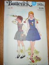 Vintage Butterick Children's & Girls Size 8 Jumper Pattern #3821 Uncut - $8.99