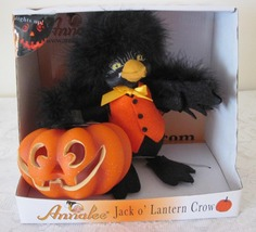 Annalee Spooky  Jack O'Lantern Crow 2009 Felt Doll Halloween Mint In Box - $26.99