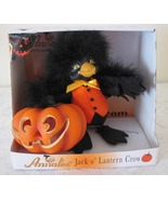 Annalee Spooky  Jack O'Lantern Crow 2009 Felt Doll Halloween Mint In Box - $26.99