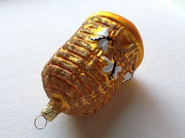 Blown glass Bee Hive Bee Skep  hand painted ornament made in Germany image 5